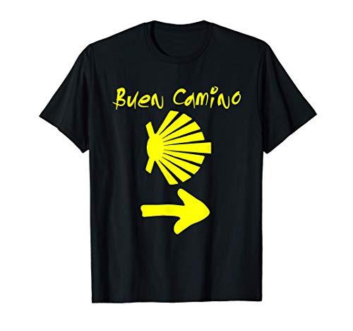 Buen Camino Senderismo Regalo Santiago Compostela España Camiseta