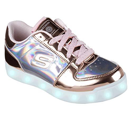 Skechers Energy Lights-Shiny Sneaks, Zapatillas para Niñas, (Rose Gold Rsgd),...