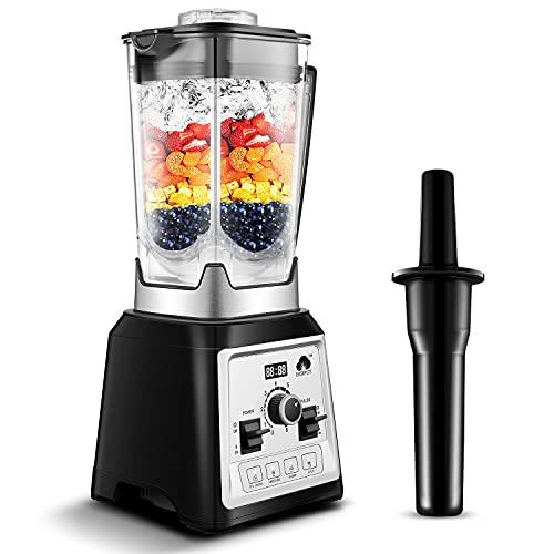 Standmixer Smoothie Maker 2000W, Easepot 2L Tritan-Behälter ohne BPA, 27,000 U/min Smoothie Blender, 4 Vorprogramme, 8-Klingen-Edelstahlmesser, Standmixer Hochleistung, Schleifer