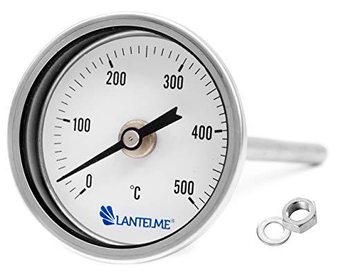 Lantelme Termometro per Forno/Grill/Tandoori analogico in Metallo / 15 cm di Lunghezza/Resistente Fino a 500 C°