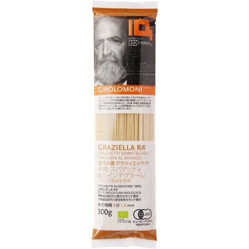 ジロロモーニ 古代小麦有機スパゲッティ セミインテグラーレ (300g) 【創健社】