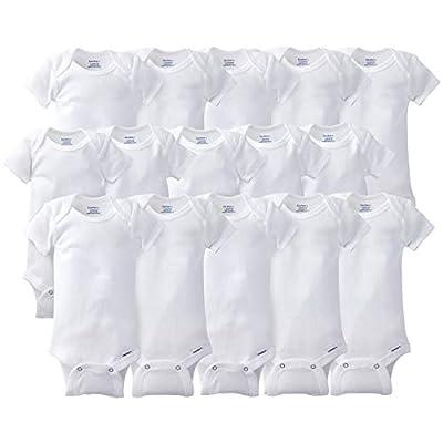 Gerber Baby 15 Piece Onesies Bodysuit Multi Pack, White, 6-9 Months