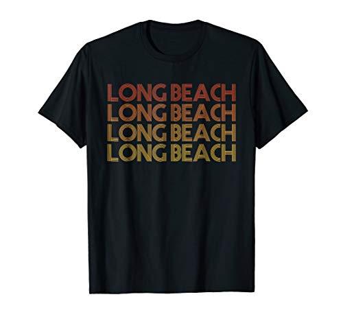Long Beach, California - Retro Vintage T Shirt