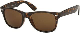 Polarized Vintage Retro Horn Rimmed Style Sunglasses - Tortoise