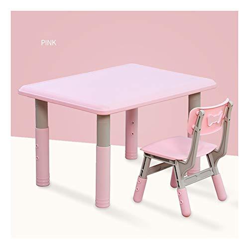 Preisvergleich Produktbild CHAXIA Kindertisch Stuhl Kunststoff Kindergarten Zeichnung Spieltisch Sicherheit rutschfest,  2 Farben Optional (Color : Green)