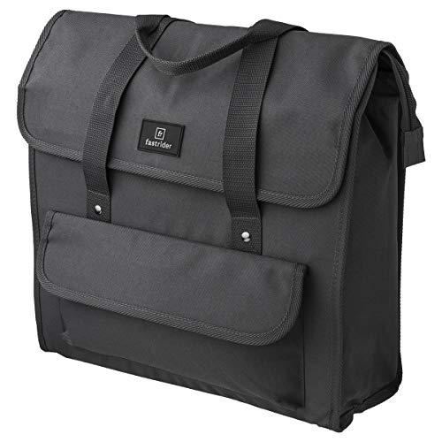 FastRider Shopper Luxe Einzel Pannier, Radtaschen, Fahrradtasche | 23 Liter | Grau