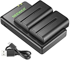Neewer NP F550 Battery Charger Set for Sony NP...