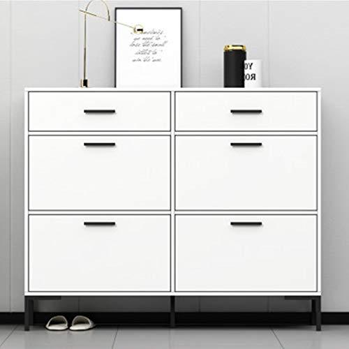 ZDAMN Gabinete de Zapatos Gabinete de Zapatos gabinete de Porche de Entrada Simple y Moderno, gabinete de Zapatos de inclinación Ultra Delgada en la Puerta de la casa Zapatero para el Hogar