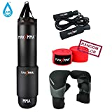 MaxxMMA 5 ft Water/Air Heavy Punching Bag Kit (Adjustable Weight...