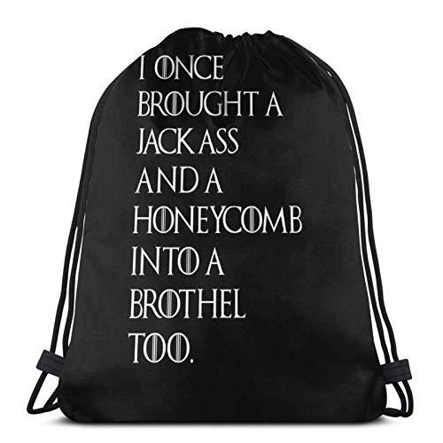 AOOEDM Tyrion Joke Sport Sackpack Drawstring Backpack Gym Bag Sack