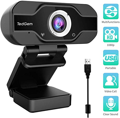 PC Webcam, TedGem 1080P Full HD ...