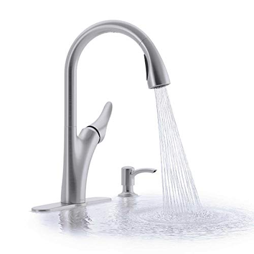 Kohler R32323-SD-VS Touchless pull-down kitchen faucet with soap/lotion dispense