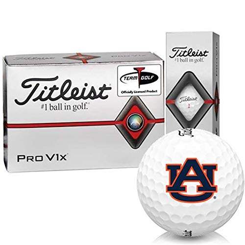 Best Buy! Titleist Pro V1x Half Dozen Auburn Tigers Golf Balls - 6 Pack