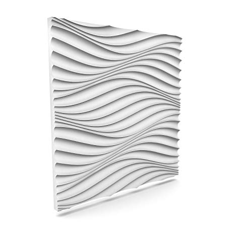 Luxury 3D Wall and Ceiling Panel Wind 60cm x 60cm Decorative Tile Cladding (19 Panels (6.84 m²))