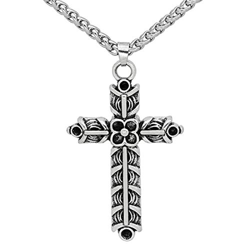HCMA Collar de Amuleto, Collar Vikingo de Doble Cara, Cruz de Athelstan, joyería India Ragnar, Colgante para Hombres y Mujeres, Regalo Vikingo