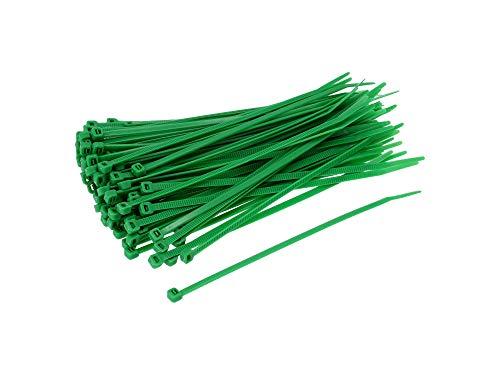 neko Set: 100x Kabelbinder 4,6 x 200mm grün