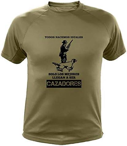 AtooDog Camisetas Personalizadas de Caza, Todos nacemos Iguales, Cazador - Ideas Regalos