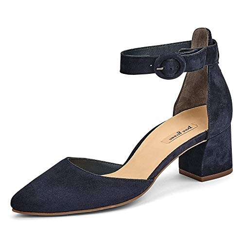 Paul Green Damen T-Spange Spangenpumps blau Gr. 38,5