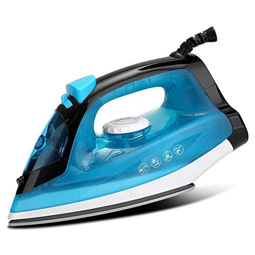 DFBGL Plancha de Vapor, Plancha eléctrica de Vapor de Alta Potencia portátil para el hogar con Placa Base de cerámica para electrodomésticos adecuados para Planchar Ropa, etc, Azul