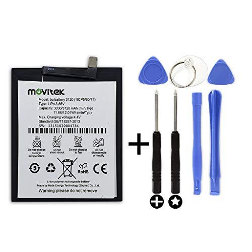 movitek® | Bateria Compatible con BQ Aquaris M5 (3120mah) + Kit Herramientas / 4.4v
