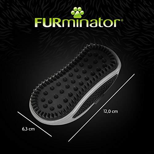 FURminator Striegel für Hunde, Fellpflege Hundebürste zum Ausbürsten von Staubundlosem Haar für gesundes glänzendes Fell, mit Gummi Noppen und ergonisch geformtem Griff - 5