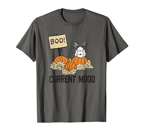 Snoopy and PumpkinsCurrent Mood Tee, Adults and Youth