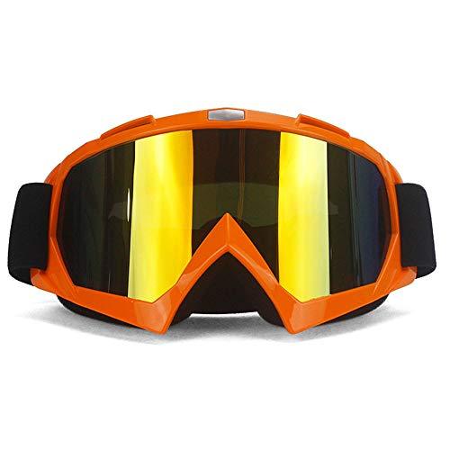 Lentes Gafas de Moto extraíbles,Protección contra el Polvo a Prueba de Rayos UV Moto Gafas Gafas de Motocross antiniebla con Bandas Ajustables Accesorios Todoterreno