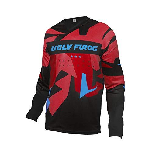 Uglyfrog Bike Wear Manica Lunga Magliette Uomo MTB/Downhill/Motorcycle Primavera Jersey Mountain Bike Bici Shirt F06