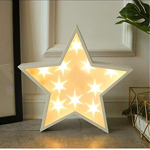 Layyqx Led Star Light Twinkle slingers Kerstlamp Holiday Party Bruiloft decoratieve lichtketting zonder batterij