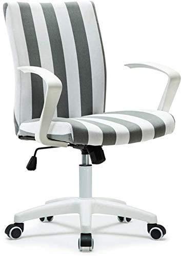 Elegante silla oficina, silla giratoria Silla de salón de ajuste rotativo | Silla de oficina de material de lino transpirable | Silla de escritorio minimalista elegante | Rodamiento de carga fuerte |