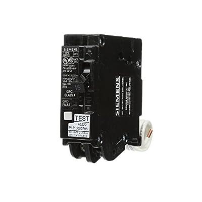 Siemens QF115A Ground Fault Circuit Interrupter, 15 Amp, 1 Pole, 120V, 10,000 Aic,