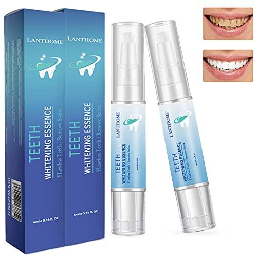 2 Stk Zahnaufhellung Stift,Zahnaufhellung Gel,Zahnaufhellung Set,Zähne Bleichen & Natürlich Aufhellen,Bleaching Zähne Effektiv Flecken Entfernen