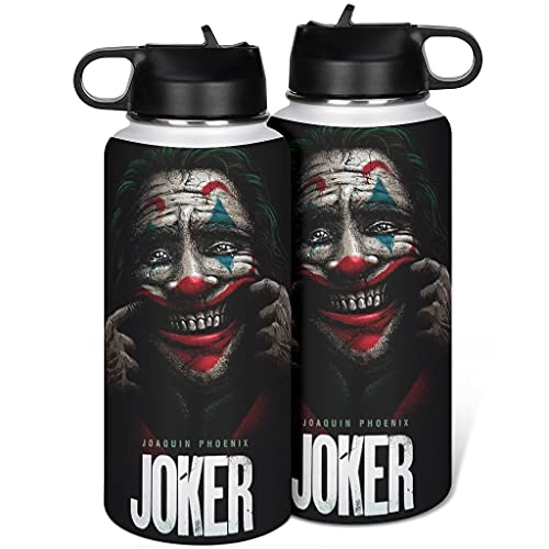 borraccia termica joker Cyliyuanye Clown Joker - Borraccia termica con coperchio in paglia