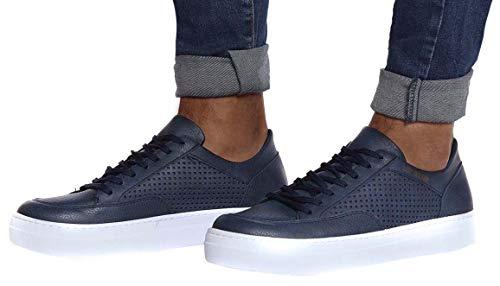 Leif Nelson Herren Schuhe Freizeitschuhe elegant Winter Sommer Freizeit Schuhe Männer Sneakers Sportschuhe Laufschuhe Halbschuhe LN154; Größe 43, Dunkel Blau