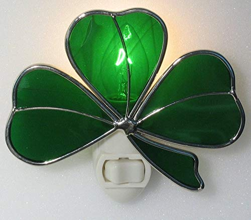 Irish Shamrock Night Light - Silver Finish
