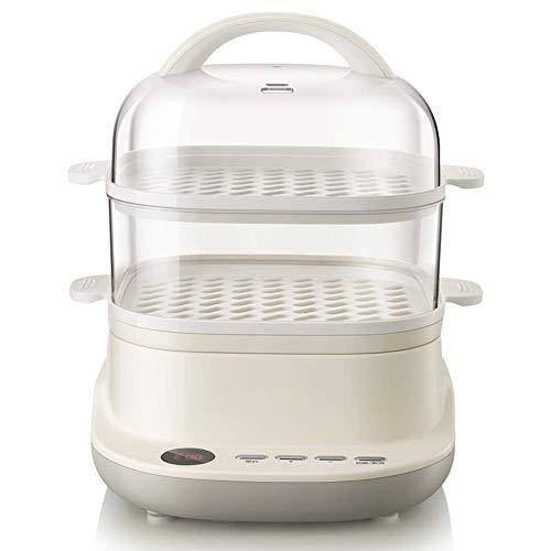 Este es un vaporizador que vale la pena comprar. Caldera de huevos, vaporizador eléctrico, 2 capas 6L, para la cocción de temporizador, alimentación automática fuera de la fabricación de comidas salud