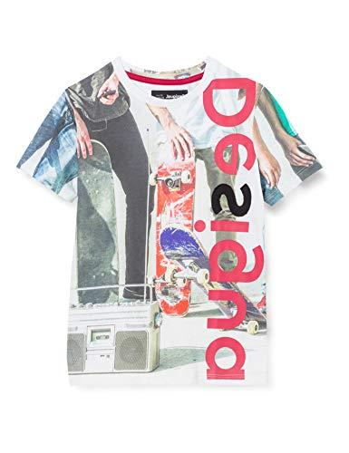 Desigual TS_JÜRGEN Camiseta, White, 3/4/2020 para Niños