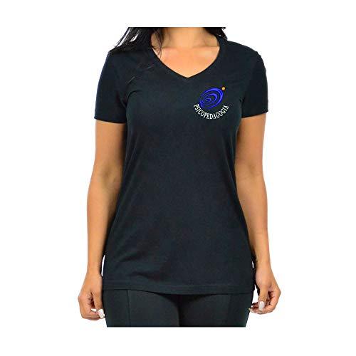 Blusa Feminina Bordada Gola V Símbolo Logo Psicopedagogia