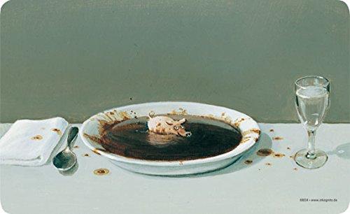 Frühstücksbrettchen 23 x 14 cm • 68034 ''Suppenschwein'' von Inkognito • Künstler: INKOGNITO © Michael Sowa • Dies & Das • Küche & Frühstück • Frühstücksbrettchen • Schneidebrettchen • Brettchen