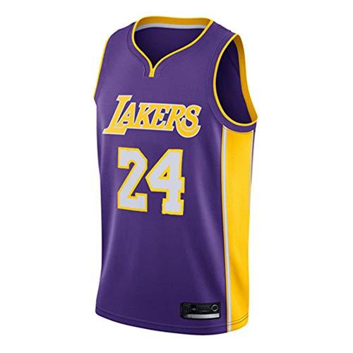 AMJUNM NBA Lakers 24# Kobe Bryant Jersey Herren-Basketball-Trikot Herren-Fans Unisex-Basketballtraining Atmungsaktiv Weste