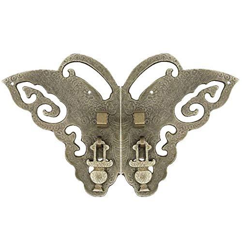 DYFAR Rustikaler Türklopfer, Hochleistungs-Messing-Finish Vintage Butterfly DoorKnocker Ideal für Haustür Gartenmöbel Dekoration-Bronze-15x9cm (6x4Inch)