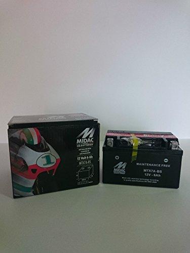 Motorrad Batterie MIDAC mtx7a-bs (YTX7A-BS)