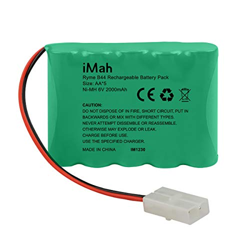 iMah 6V AA Battery Pack 2000mAh High Capacity Ni-MH Rechargeable with Standard Female Tamiya Plug for 1/14 1/18 1/20 High Speed Radio Remote Control Car Off Road RC Truck Buggy