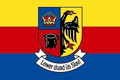 U24 Aufkleber Nordfriesland Flagge Fahne 8 x 5 cm Autoaufkleber Sticker