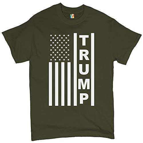 Trump Flag MAGA Republican T-Shirt Donald Trump Republican Political Military Green
