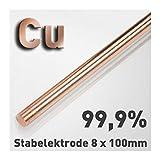 ASTA DI RAME DI anodo/elettrodo (8 X 100 mm) per Rame elettrolitico/galvanik 10 cm, campione di materiale Cu 99,9
