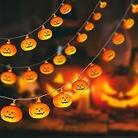 Sanjicha 30 Led Halloween Decoration Pumpkin Indoor Lights, Battery Operated Halloween Decor