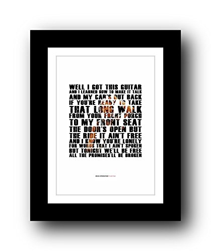 Bruce Springsteen Thunder Road – A3 Songtext Typografie Poster-Kunst, limitierte Auflage #40