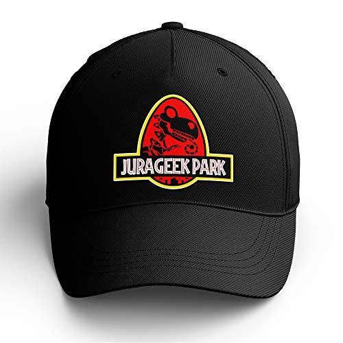 OKIWOKI Yoshi - Jurassic Park Lustiges Schwarz Kappe - Yoshi und Jurassic Park (Yoshi - Jurassic Park Parodie signiert Hochwertiges Kappe - Einheitsgröße - Ref : 430)