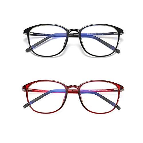 2Pack Gleitsichtbrille Multi Focus Lesebrille, Smart Progressive Brille Für Männer Frauen Mit Blaulichtblockierung, Schutzbrille Fashion Ladies UV-Schutz, Eleganter Full Multi Color Oversized Frame